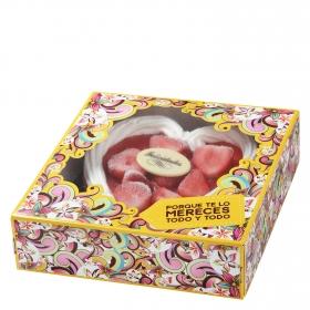 Corazón nata con fresas JSP 450 g