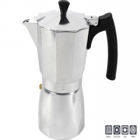 Cafetera de Aluminio Idealcasa Imola 6 Tazas - Plateada
