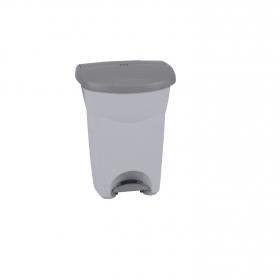 Cubo  de basura de Plástico  Eureka 30 Litros  Gris