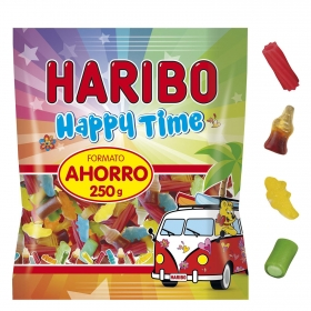 Caramelos de goma Happy Time Haribo 250 g.