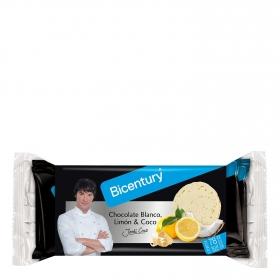 Tortitas de arroz con chocolate blanco, limón y coco Bicentury 132 g,