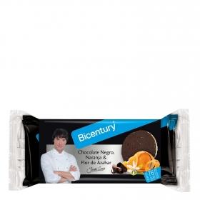 Tortitas de arroz con chocolate negro, naranja y azahar Bicentury 132 g.