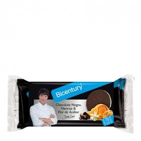 Tortita de arroz con chocolate negro, naranja y azahara