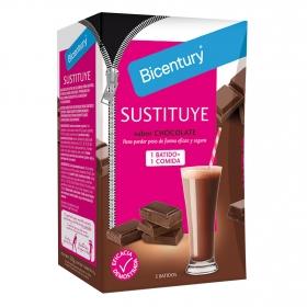 Batido sustitutivo de vainilla chocolate Bicentury pack de 5 sobres de 45 g.