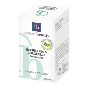 Espirulina y chlorella ecológico Corpore Beauty 60 cápsulas