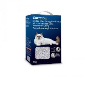 Arena para Gatos Aglomerante Bentonita Blanco 4 kg