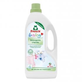 Detergente líquido para ropa de bebé ecológico Frosch 21 lavados.
