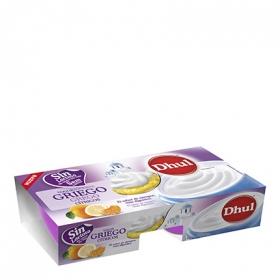Yogur griego cítricos Dhul sin lactosa pack de 2 unidades de 125 g.
