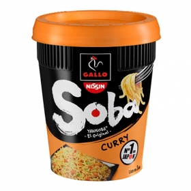 Fideos orientales Soba curry