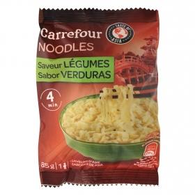 Noodles sabor verduras Carrefour 85 g.