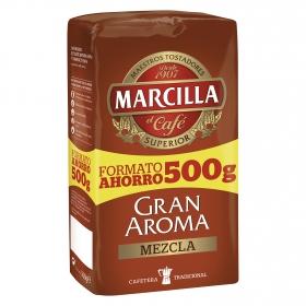 Café molido mezcla Gran Aroma Marcilla 500 g.