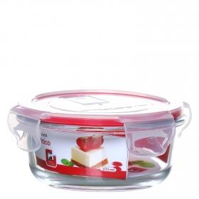 Recipiente Hermetico Redondo de Cristal 0,37 L. Transparente