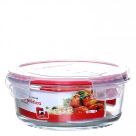 Recipiente Hermetico Redondo de Cristal 0,92 L. Transparente