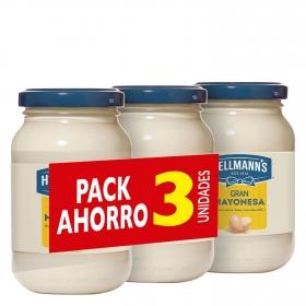 Mayonesa Hellmann's pack de 3 tarros de 225 ml.