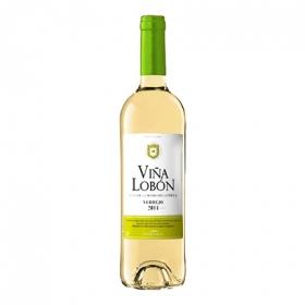 Vino de la Tierra de Castilla blanco verdejo Viña Lobón 75 cl.