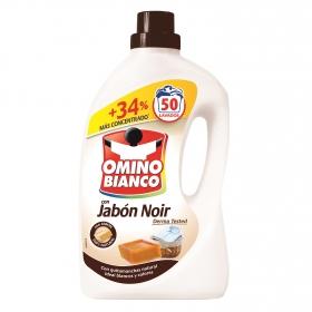 Detergente líquido con jabón noir Omino Bianco 50 lavados.