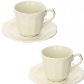 Estuche de 2 tazas con plato Loza CHURCHILL Artic White 16 cl