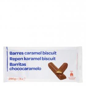 Barritas de chocolate y caramelo