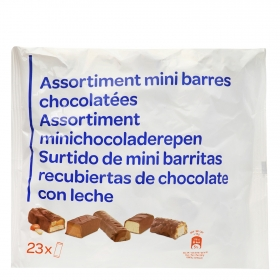 Surtido de mini barritas de chocolate con leche