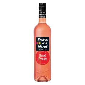 Vino rosado de fresa