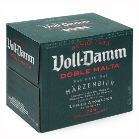 Cerveza Voll Damm doble malta pack de 12 botellas de 25 cl.