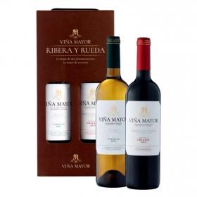 LOTE 83: 1 botella D.O. Ribera del Duero Viña Mayor tinto crianza 75 cl. + 1 botella D.O. Rueda Viña Mayor verdejo 75 cl.