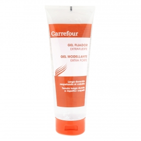 Gel fijador extrafuerte Carrefour 250 ml.