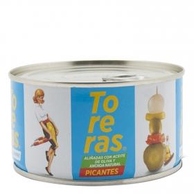 Toreras picantes con anchoa