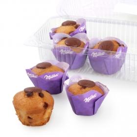 Mini muffin chocolate milka Carrefour 6 ud