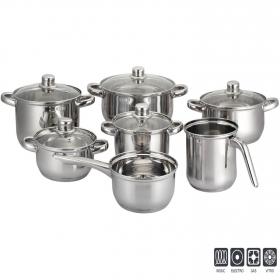 Bateria de cocina de Acero Aken 12 Piezas - Inox