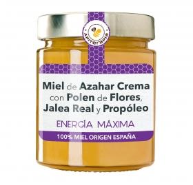 Miel artesana de azahar monofloral con Polen, Jalea real y propóleo, Primo Mendoza 300 g
