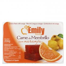 Carne de membrillo con naranja
