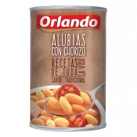 Alubias con chorizo Orlando 425 g.