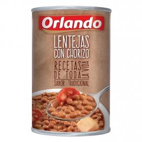 Lentejas con chorizo Orlando 425 g.