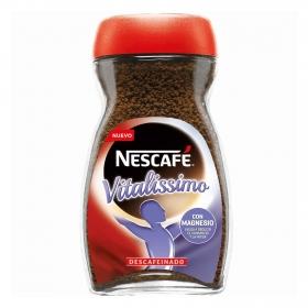 Café soluble descafeinado con magnesio vitalissimo Nescafé 200 g.