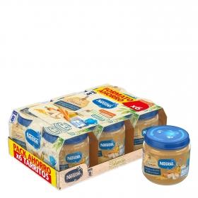 Tarrito de verdurita a la huerta con filete de merluza Nestlé pack de 6 unidades de 200 g.