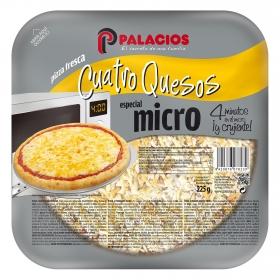 Pizza cuatro quesos Palacios 225 g.