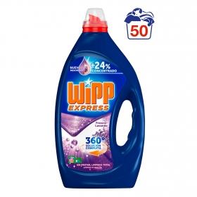 Detergente líquido frescor lavanda Wipp Express 50 lavados.