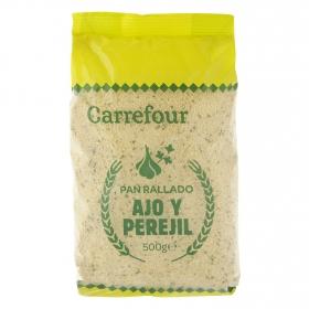 Pan rallado de ajo y perejil Carrefour 500 g.