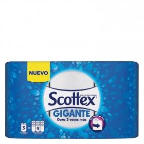 Papel de cocina Gigante Scottex 3 rollos.