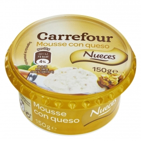 Mousse de queso con Nueces Carrefour 150 g.