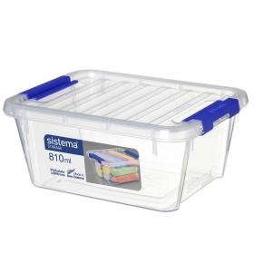 Caja Ordenación SISTEMA Small 810 ml - Transparente