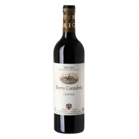 Vino D.O. Rioja tinto crianza Sierra Cantabria 75 cl.