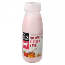 Yogur líquido frambuesa,plátano y miel