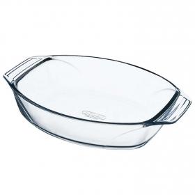 Fuente oval de Vidrio Optimum 40x28 cm Transparente