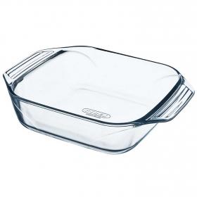 Bowl con asas de Vidrio  Sticker 23cm Transparente