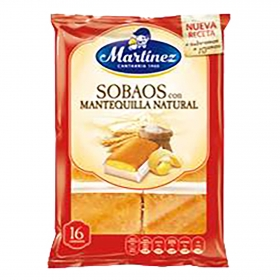 Sobaos con mantequilla natural