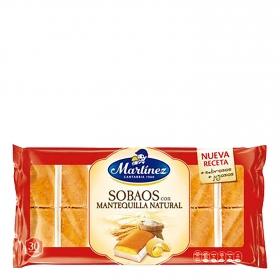 Sobaos con mantequilla natural