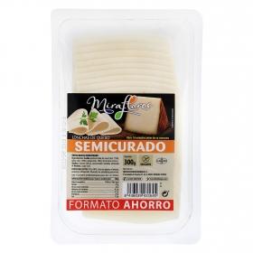 Queso semicurado en lonchas Miraflores 300 g.