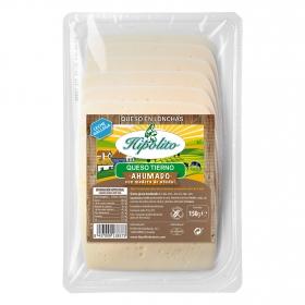 Queso tierno ahumado en lonchas Hipólito 150 g.